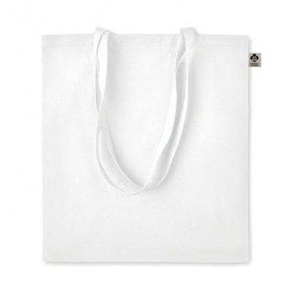 Sac Shopping En Coton Biologique 140g 38x42cm ZIMDE Blanc