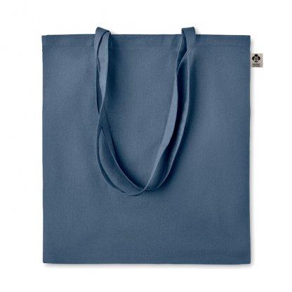 Sac Shopping En Coton Biologique 140g 38x42cm ZIMDE Bleu