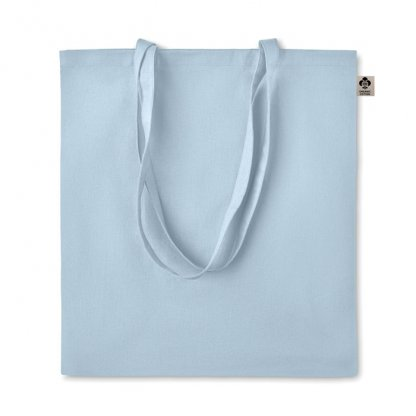 Sac Shopping En Coton Biologique 140g 38x42cm ZIMDE Bleu Clair