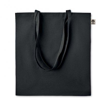 Sac Shopping En Coton Biologique 140g 38x42cm ZIMDE Noir