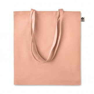 Sac Shopping Publicitaire En Coton Biologique 140g 38x42cm ZIMDE Orange