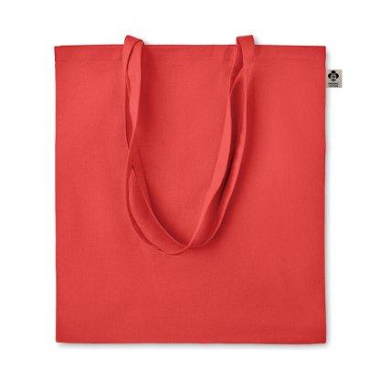 Sac Shopping En Coton Biologique 140g 38x42cm ZIMDE Rouge