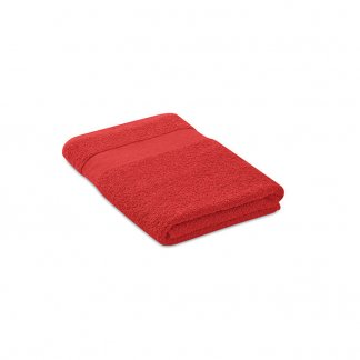 Serviette éponge Promotionnelle En Coton Biologique 140x70mm PERRY Rouge