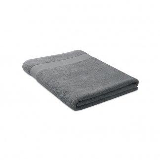 Serviette éponge Personnalisable En Coton Biologique 180x100mm MERRY Gris