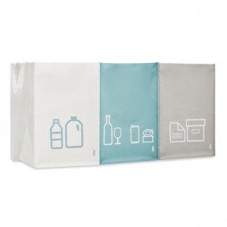 Set De 3 Sacs à Déchets Personnalisable En Bouteilles Plastiques Recyclées THREE BIN