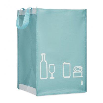 Set De 3 Sacs à Déchets En Bouteilles Plastiques Recyclées THREE BIN Bleu