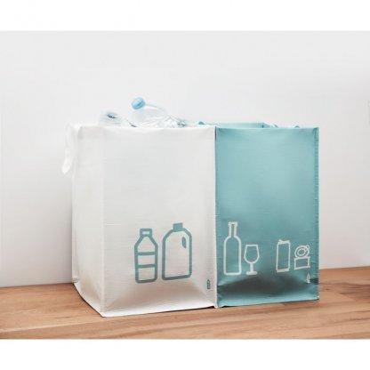 Set De 3 Sacs à Déchets En Bouteilles Plastiques Recyclées THREE BIN Plein