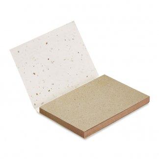 Bloc Notes Publicitaire En Papier Herbe Et Couverture à Planter GROW ME