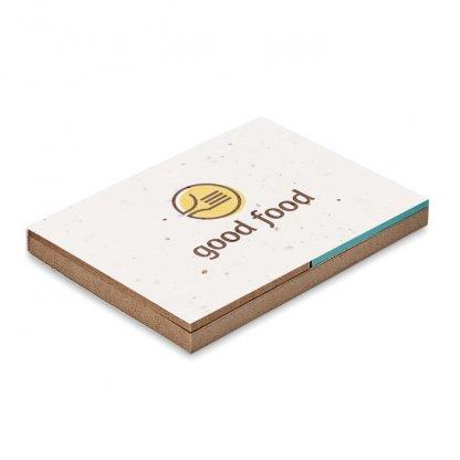 Bloc Notes En Papier Herbe, Marqueurs Et Couverture à Planter GROW ME Avec Marquage