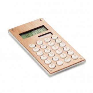 Calculatrice De Poche Solaire Promotionnelle En ABS Et Bambou CALCUBAM