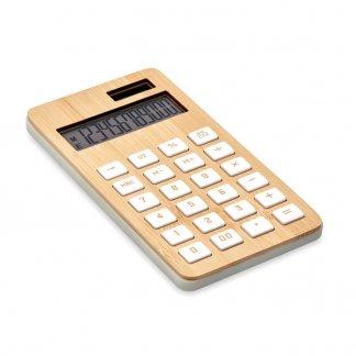 Calculatrice Personnalisable Solaire En ABS Et Bambou CALCUBIM