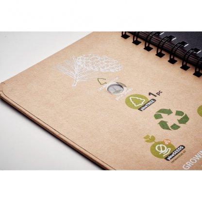 Carnet A5 En Papier FSC Avec Graines De Pin GROWNOTEBOOK 2eme De Couverture