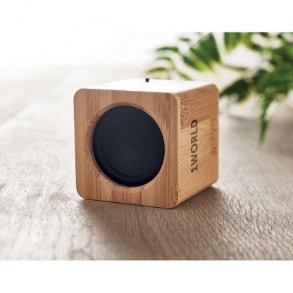 Enceinte Bluetooth En Bambou AUDIO Avec Marquage