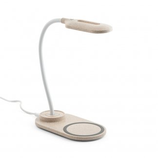 Lampe LED Et Chargeur Induction Personnalisable En ABS Et Fibre De Paille De Blé OZZEL
