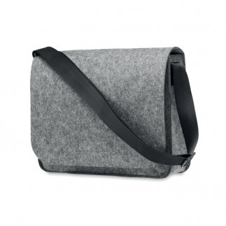 Sac Messager Promotionnel En Feutre PET Recyclé 36x27x8cm BAGLO Gris