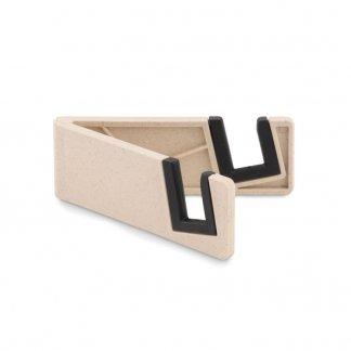 Support Pliable Pour Téléphone Publicitaire En Fibre De Bambou Et ABS STANDOL+ Naturel