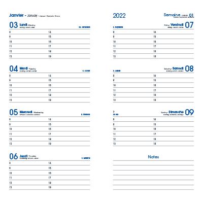 Agenda De Poche En Papier Recyclé 9x17cm ECOKRAFT Intérieur