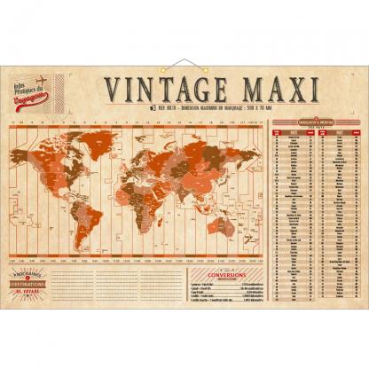 Calendrier Bancaire Rigide VINTAGE Maxi Verso