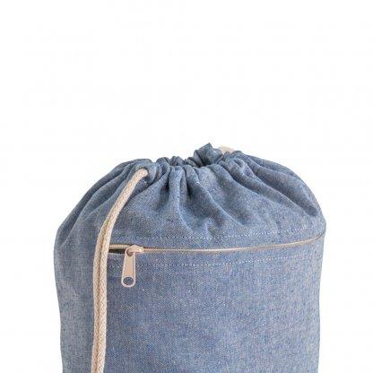 Gym Bag En Coton Recyclé 150g CHANCERY Zoom Bleu