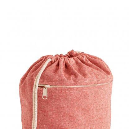 Gym Bag En Coton Recyclé 150g CHANCERY Zoom Rouge