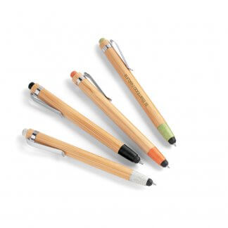 Stylet Stylo 2 En 1 En Bambou Et Paille De Blé BENJAMIN Logo
