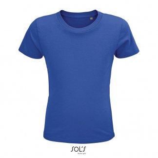 T Shirt Enfant Publicitaire En Coton Biologique 150g CRUSADER KIDS Bleu