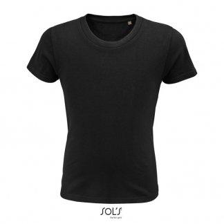 T Shirt Enfant Promotionnel En Coton Biologique 175g PIONEER KIDS Noir