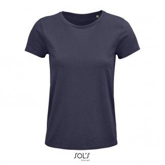 T Shirt Femme Publicitaire En Coton Biologique 150g CRUSADER WOMEN Gris Souris