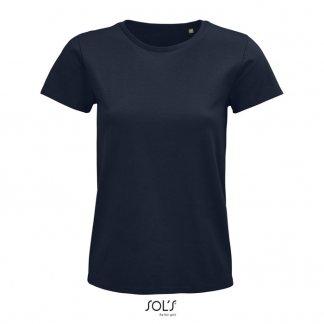 T Shirt Femme Promotionnel En Coton Biologique 175g PIONEER WOMEN Marine
