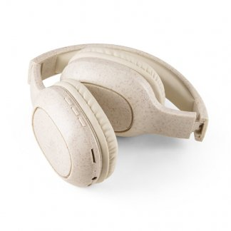 Casque Audio Sans Fil Pliable Promotionnel En Paille De Blé FEYNMAN Plié 2