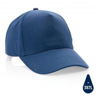 Casquette Publicitaire En Coton Recyclé 5 Pans 280g IMPACT Bleu Marine