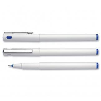 Stylo Feutre Fineliner Publicitaire En Plastique Recyclé TOPLINER Blanc Encre Bleue