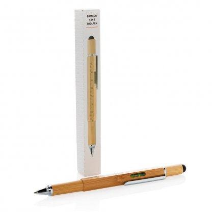 Stylet Stylo Multifonctions 5 En 1 En Bambou BAMSTIL Emballage