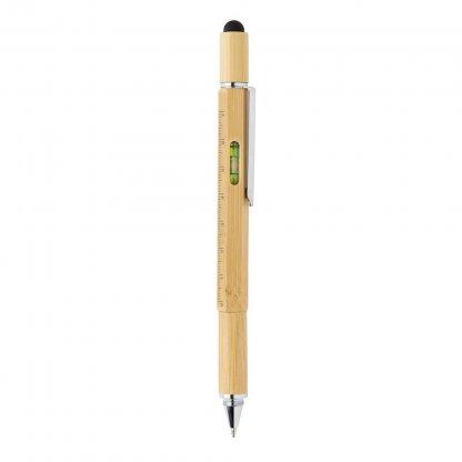 Stylet Stylo Multifonctions 5 En 1 En Bambou BAMSTIL Niveau