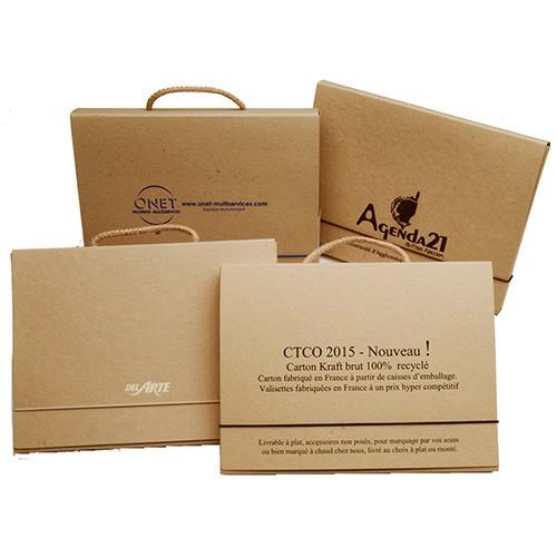Objet pub durable et responsable - valisette carton