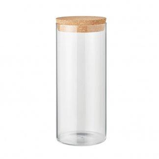 Bocal en verre publicitaire avec couvercle liège - 1L- BIG BOROJAR