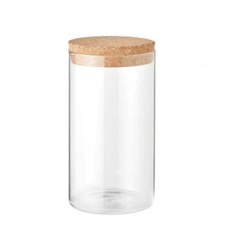 Bocal en verre promotionnel avec couvercle liège - BOROJAR