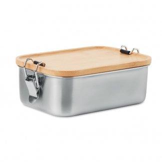 Boîte repas promotionnelle en acier inoxydable et bambou - SONABOX