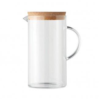 Carafe publicitaire en verre avec bouchon en liège - 1000 ml - OSNA BOLD