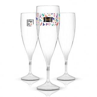 Flute à Champagne avec logo En Tritan 140ml TRANSPARENT CHAMP