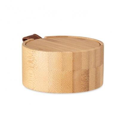 Boîte à Bijoux En Bambou TREASURE Fermée