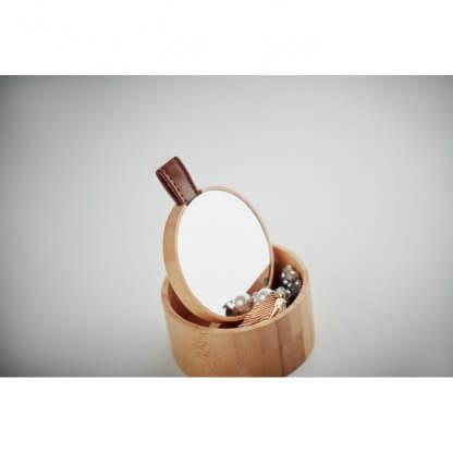 Boîte à Bijoux En Bambou TREASURE Miroir